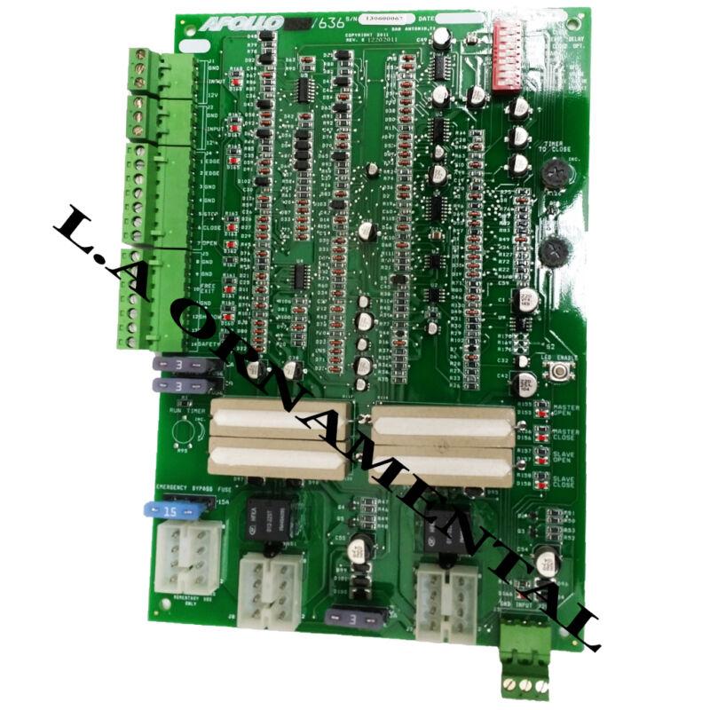 Apollo 636 Non-etl Dual Gate Control Circuit Board For 1600 Swing Gate Operator