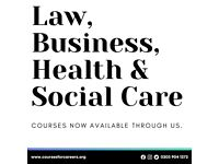 BSc (Hons) Health and Social Care - Starting January 2022