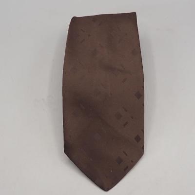 1940s Mens Ties | Wide Ties & Painted Ties Vintage Excello Brown Cravat Original 1940's 1950's Neck Tie $18.99 AT vintagedancer.com