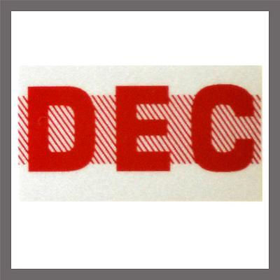 December Month California Dmv License Plate Red Registration Sticker Tag Yom Ca