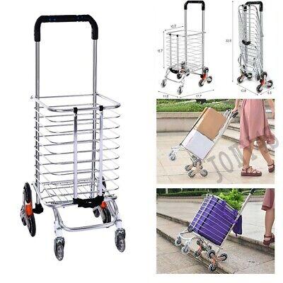 Shopping Cart Jumbo Folding Swivel Wheel Extra Basket Grocery Utility Carts Usa