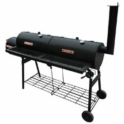 vidaXL Rookbarbecue Nevada XL Zwart Smoker Smokers BBQ Barbecue Barbeque Grill tweedehands  Nederland