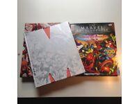 2x Marvel Chronicle + Encyclopedia Hardback Book Lot history kids DK comic book spiderman xmen