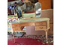 Beautiful Painted Dressing Table With 3 Mirrors - Dressing Room - Bedroom