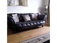 Chesterfield sofa black