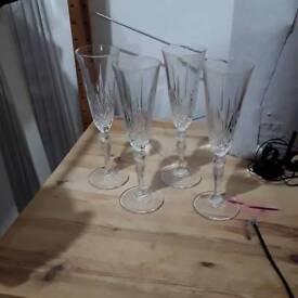 Champagne flutes glasses 4