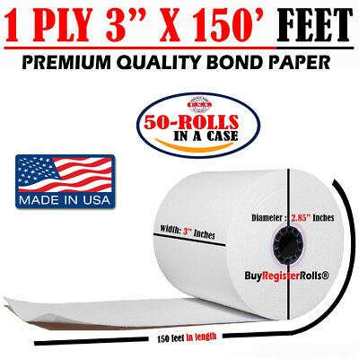 1 Ply 3 X 150 Ft Kitchen Paper Roll Same Day Free Shipping Bond Paper Rolls