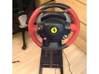 Ferrari Thrustmaster Racing Steering Wheel & Pedals X box one 1 boxed
