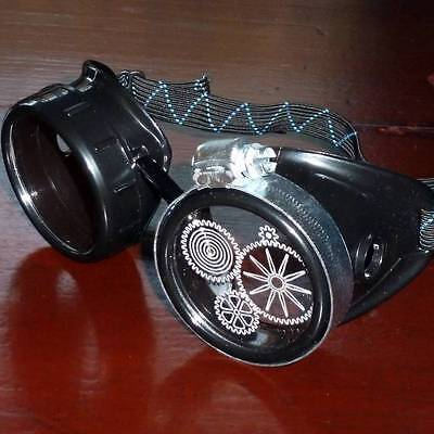 Steampunk goggles glasses novelty costume welding lens goth cyber club house P02 - Novelty Goggles