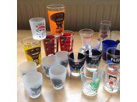 Selection of shot glasses
