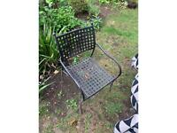 8 x garden chairs plus table