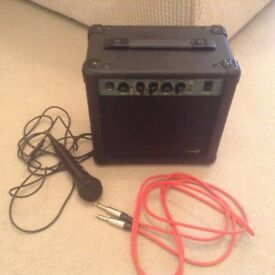 Speaker , Leads, Mic for sale As new