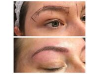 Microblading eyebrow semi permanent makeup eyebrow tattoo