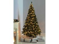 CHRISTMAS TREE - WeRCHRISTMAS 7 ft EMERALD GREEN SPRUCE PRE-LIT MULTI-FUNCTION -New Boxed