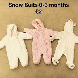 Baby snow suits 0-3 months