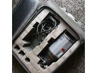 Bowens spirit flash head, Bowens Wheelie case, Lastolite Light stand