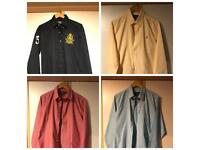 4 x Ralph Lauren Polo Custom Fit Size Large Casual Shirt in Navy Blue