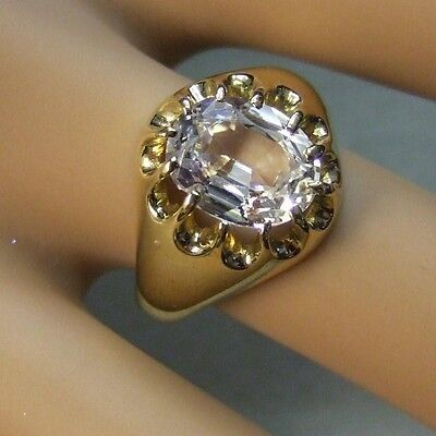 9 ct gold second hand gents stone ring