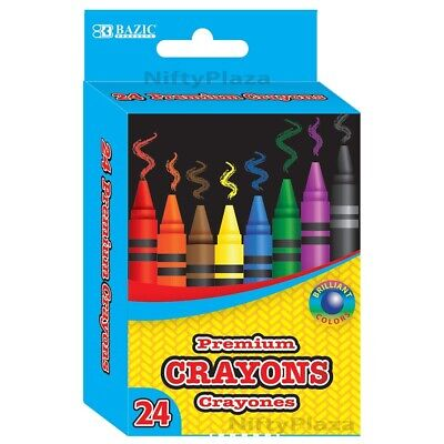 24 Color Premium Quality Brilliant Crayon Good for Kids, Art, Craft - US SHIP