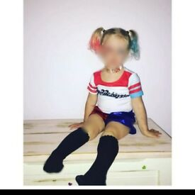 Toddlers Harley Quinn costume size 3-4