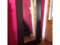 Large free standing or wall mounted mirror for sale.