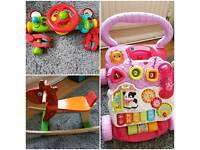 Baby toys for Sale - Rocking Horse, Walker and Steering Wheel