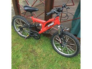 "TRAX - Boys Full Suspension Mountain Bike (20"" wheels)"