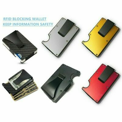 RFID Blocking Metal Wallet The Minimalist Wallets Credit card Holders Money Clip Billfold Credit Card Holders