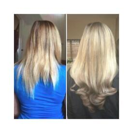 Bespoke Russian hair extensions 50 pounds off