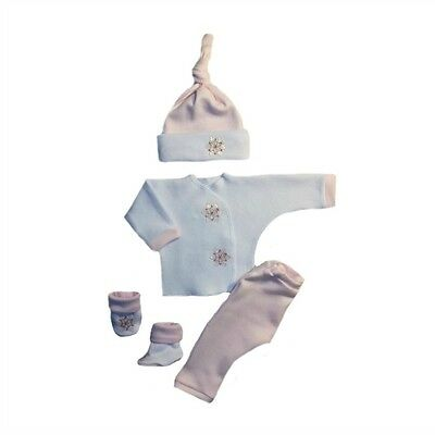 Pink Snowflake Baby Girl Christmas Winter Clothing - 4 Preemie and Newborn Sizes