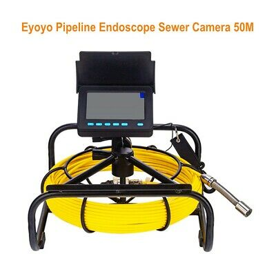 4.3 Inch 720p 164ft Inspection Sewer Camera Wall Dvr Video Plumbing System 16gb