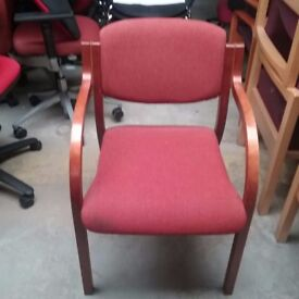 Wallis terracotta fabric visitor chair