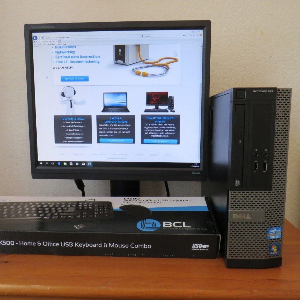 Dell Core i3 Windows 10 (or 7) PC Complete HDMI Optiplex 390 SFF 19 inch  Monitor | in Torquay, Devon | Gumtree