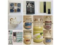 House clearance all items brand new - Yankee candles, kitchenware, bedding, curtains..