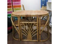 Rattan Oval Table and Chair Set kitchen / lounge / conservatory
