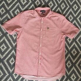 Size L Lyle and Scott crinkle shirt