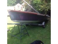 Parker 505 Sailing dinghy restoration project with combination trailer