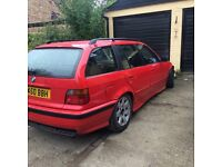 E36 touring, 2.5litre 6cylinder, Rosso red drift car