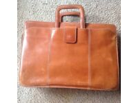 Vintage leather briefcase, 'Carriage' brand