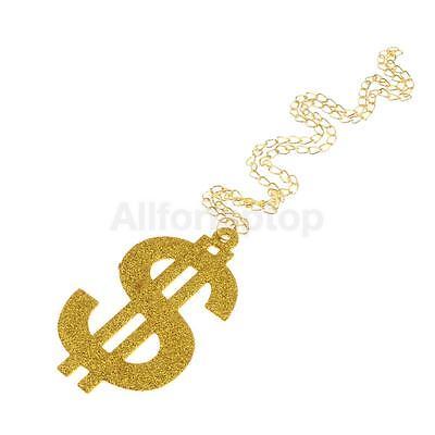 änger Halskette lange Kette Geld Hip-Hop Kostüm (Dollar-zeichen-anhänger)