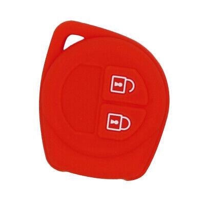 Perfeclan Smart Remote Key Case Silicone Cover Durable for Suzuki Red