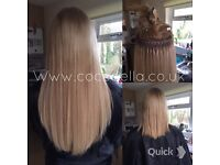 Russian Brazilian Indian virgin Remi micro rings keratin bonds mobile hair extensions from £140