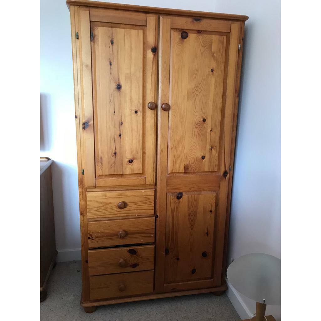 Small solid pine wardrobe   in Hethersett, Norfolk   Gumtree