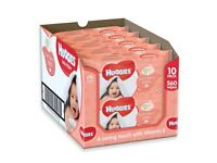 10 individual pks of Huggies Soft Skin Baby Wipes. With Vitamin E & Shea Butter for soft skin