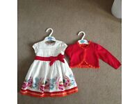 Gorgeous dress with matching cardigan 9-12 months