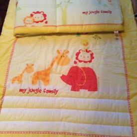 Cot quilt and bumper
