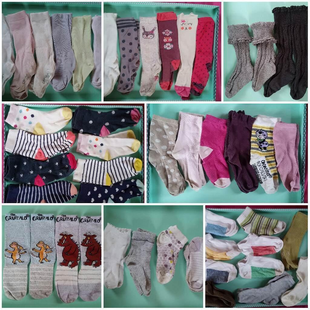 Girls & unisex socks size Uk 6-8 or Eur 23-26