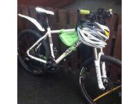 As new board an mountain bike