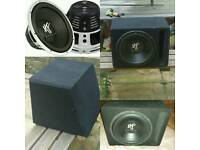 "Car 12"" inch Subwoofer & Box"