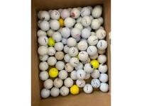 Mixed grade B and some A golf balls